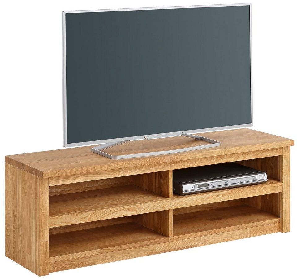 home affaire lowboard una breite 120 cm vollmassive aus eiche online kaufen otto. Black Bedroom Furniture Sets. Home Design Ideas
