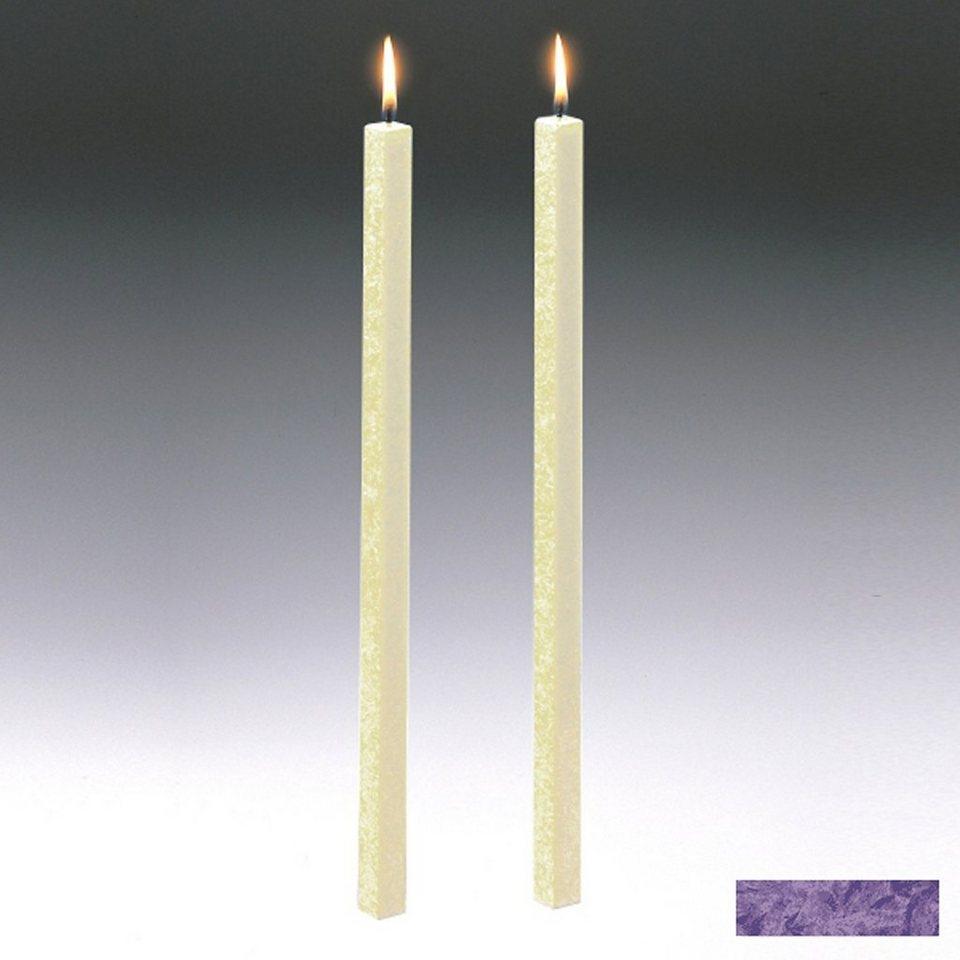 Amabiente Amabiente Kerze CLASSIC Violett 40cm - 2er Set in Violett