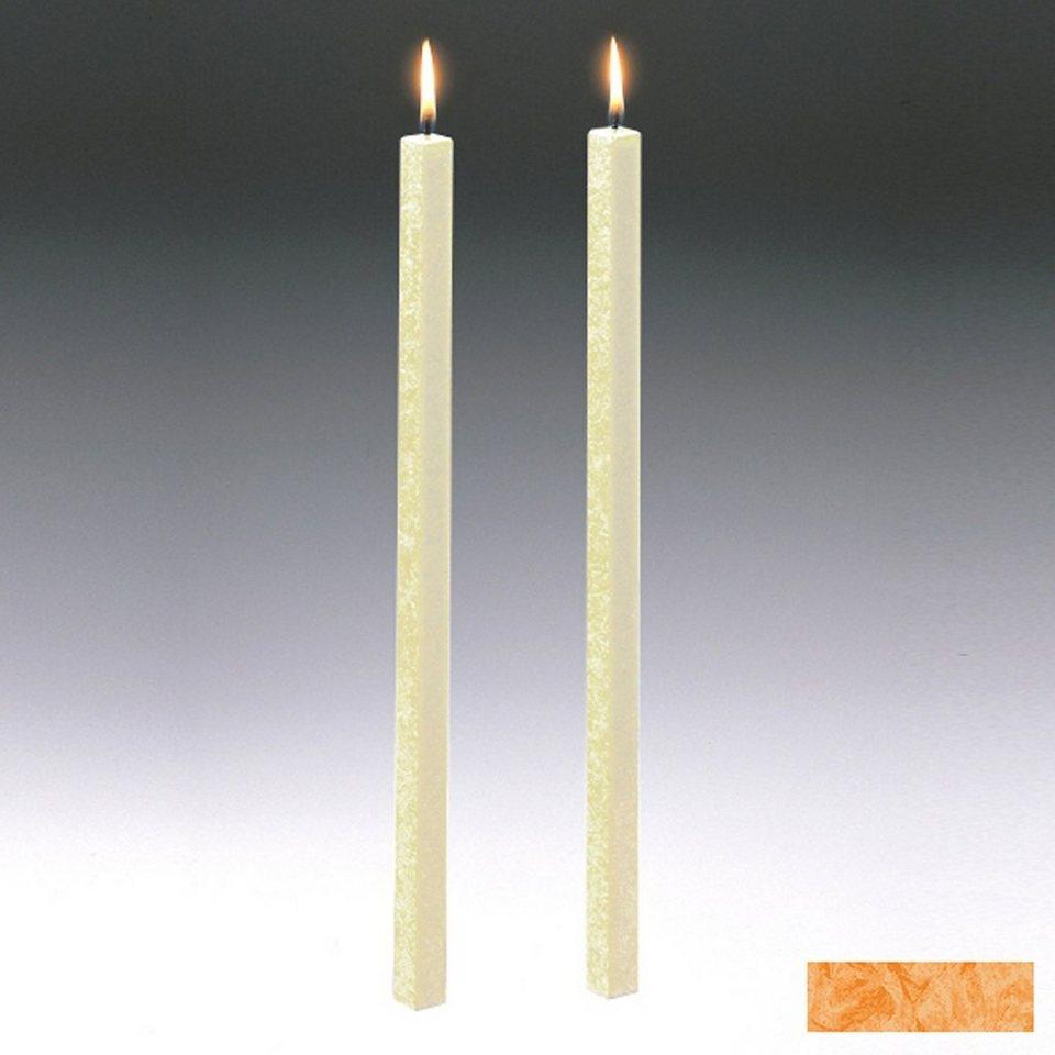 Amabiente Amabiente Kerze CLASSIC Aprikose 40cm - 2er Set in Aprikose