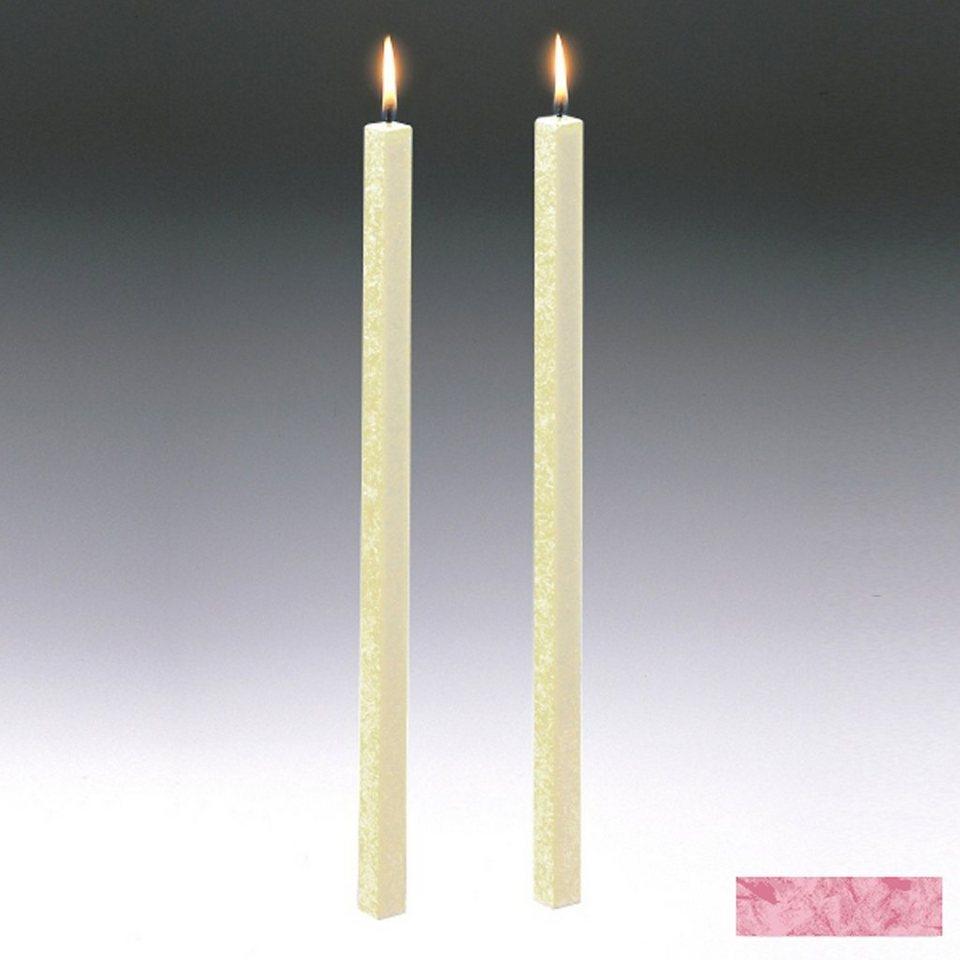 Amabiente Amabiente Kerze CLASSIC Rose 40cm - 2er Set in Rose