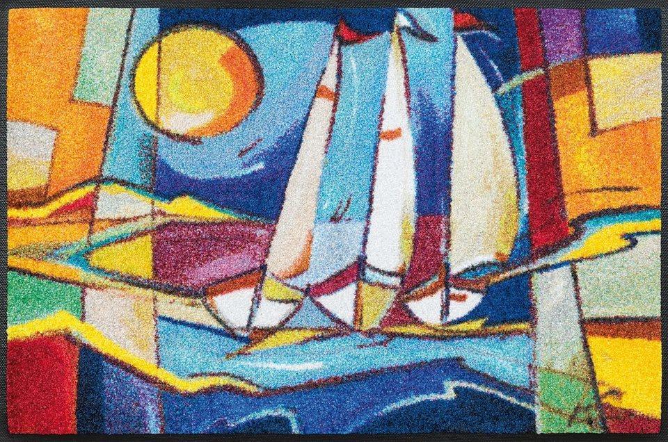 Fußmatte »sailing home«, wash+dry by Kleen-Tex, rechteckig, Höhe 7 mm in bunt