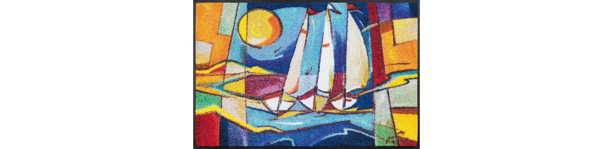 Fußmatte, wash+dry by Kleen-Tex, »sailing home«, rutschhemmend beschichtet