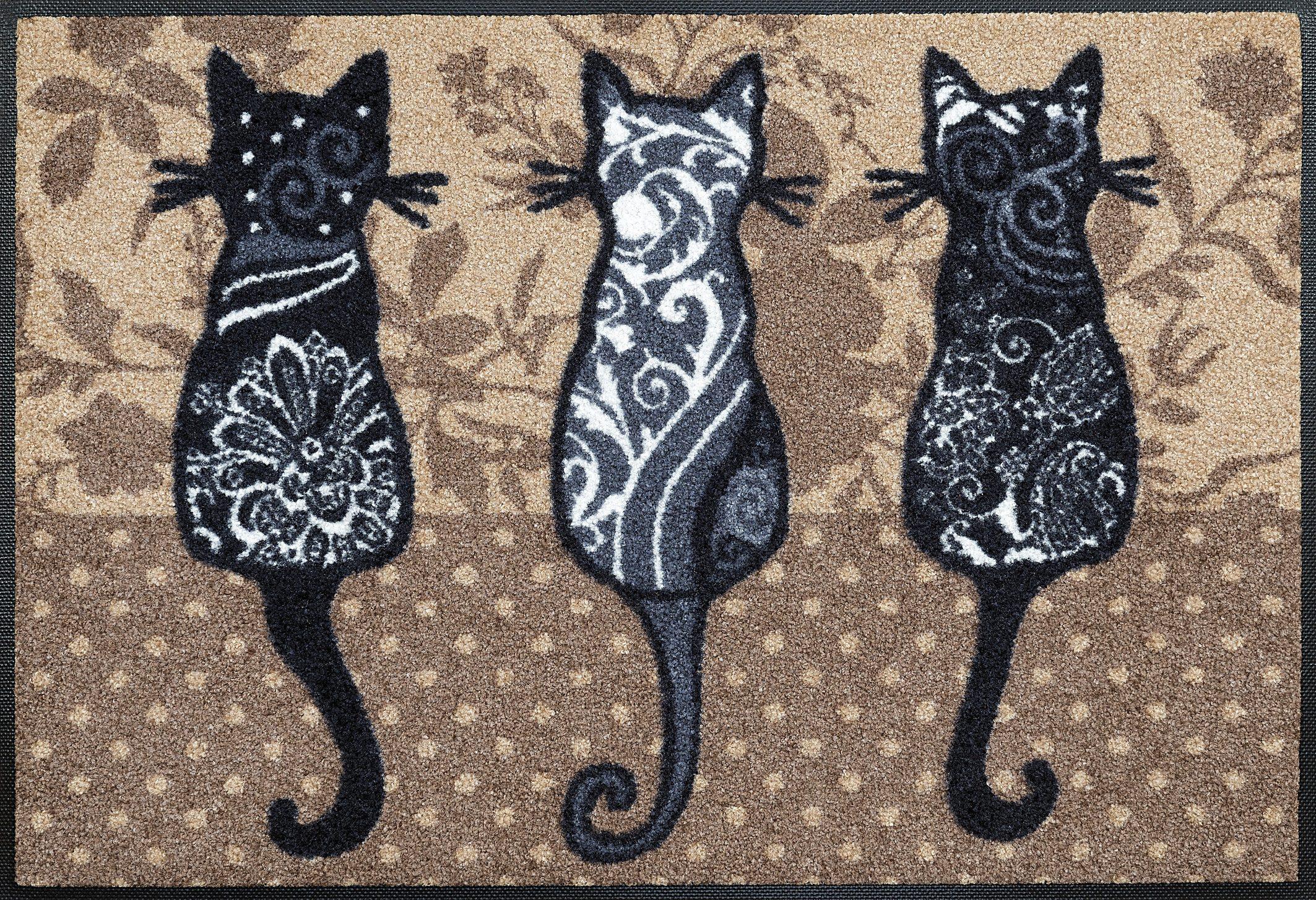 Fußmatte »Katzenbande«, wash+dry by Kleen-Tex, rechteckig, Höhe 7 mm