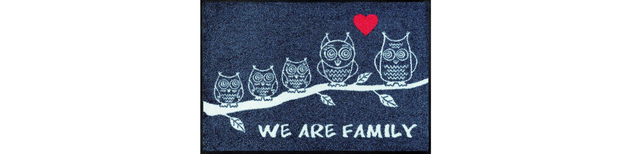 Fußmatte, wash+dry by Kleen-Tex, »We are Family«, rutschhemmend beschichtet