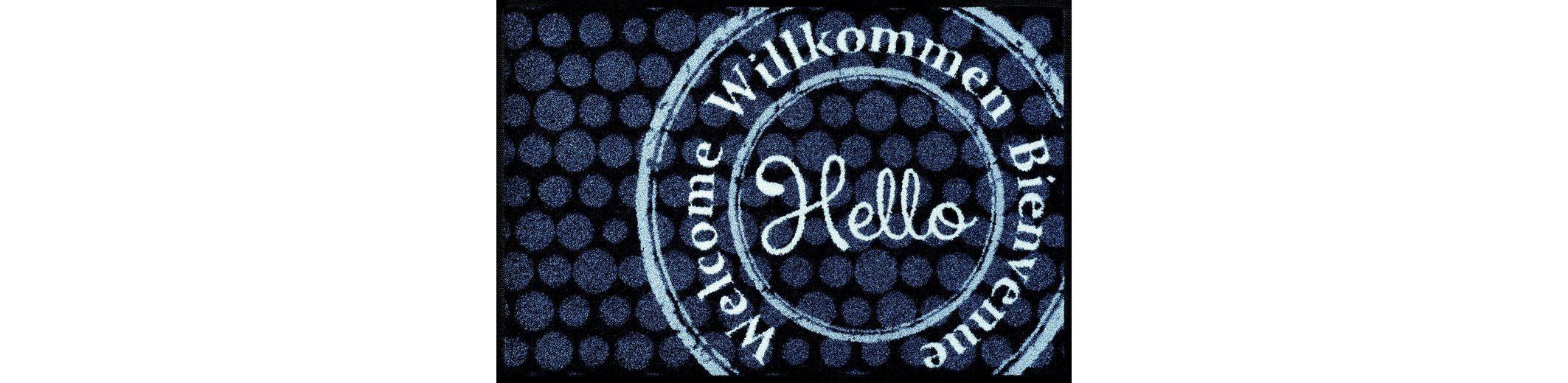 Fußmatte, wash+dry by Kleen-Tex, »Welcome Stamp«, rutschhemmend beschichtet