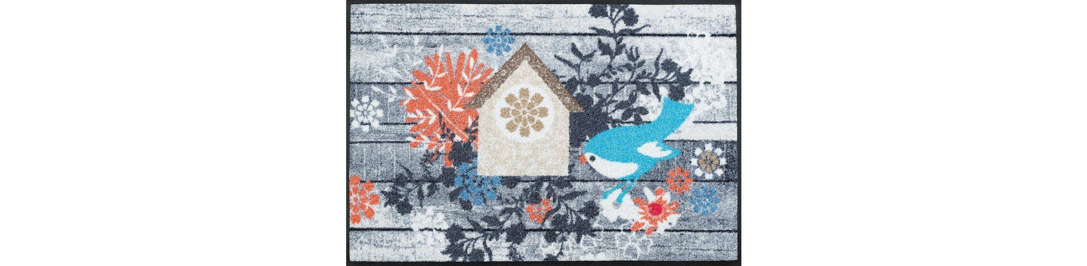 Fußmatte, wash+dry by Kleen-Tex, »Birdies House«, rutschhemmend beschichtet
