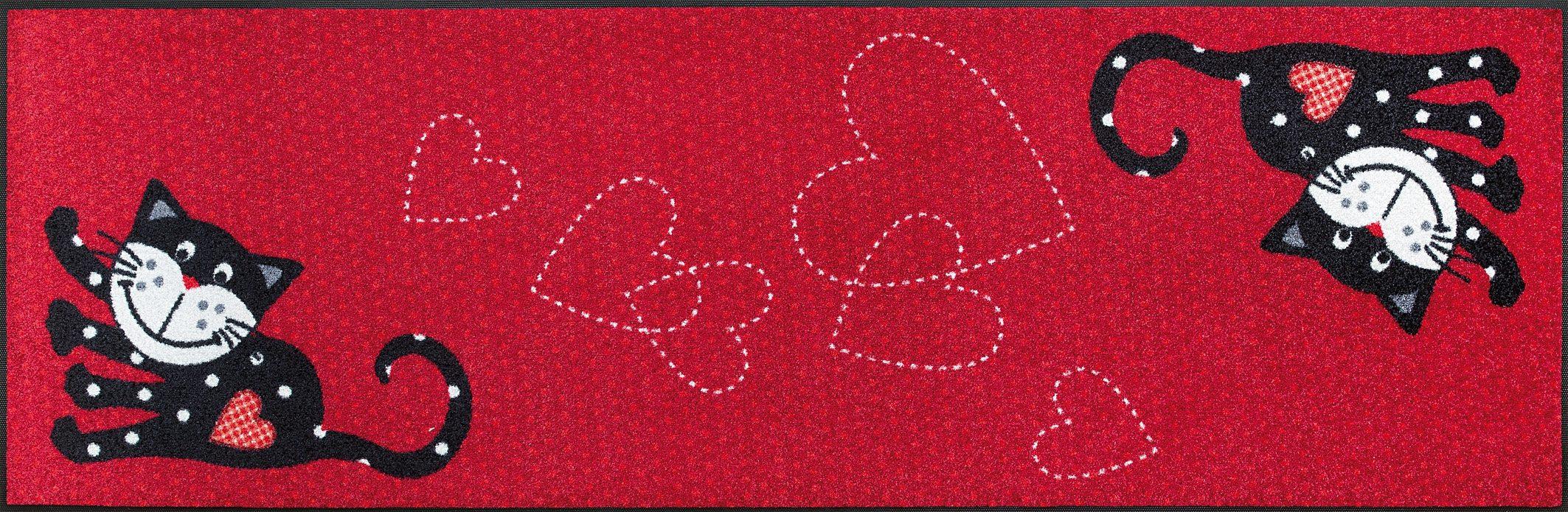 Läufer »Romeo in Love«, wash+dry by Kleen-Tex, rechteckig, Höhe 7 mm
