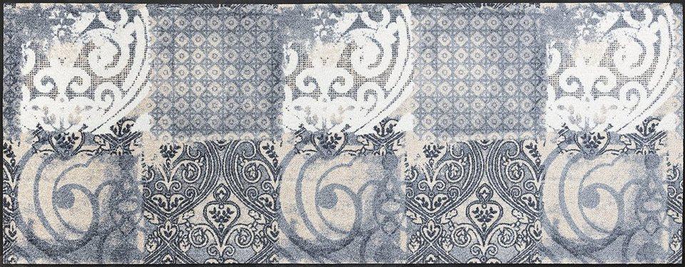 Läufer »Arabesque«, wash+dry by Kleen-Tex, rechteckig, Höhe 7 mm in beige-grau