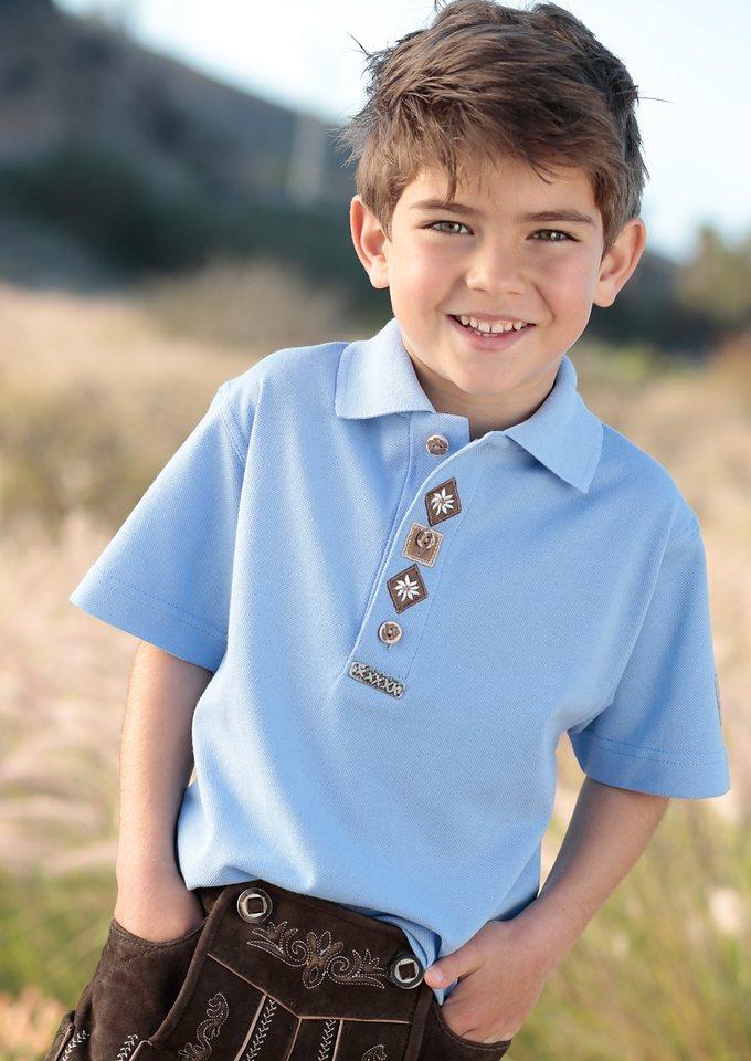 Kinder Trachtenshirt, OS-Trachten in hellblau