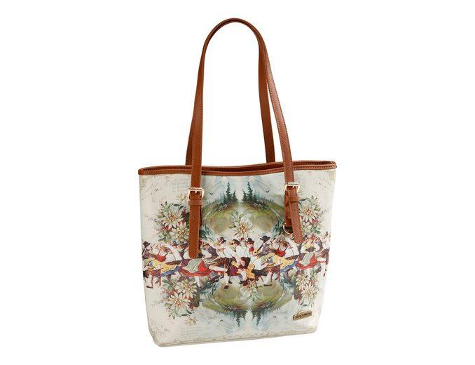 Trachtentasche mit Aufdruck, Lady Edelweiss