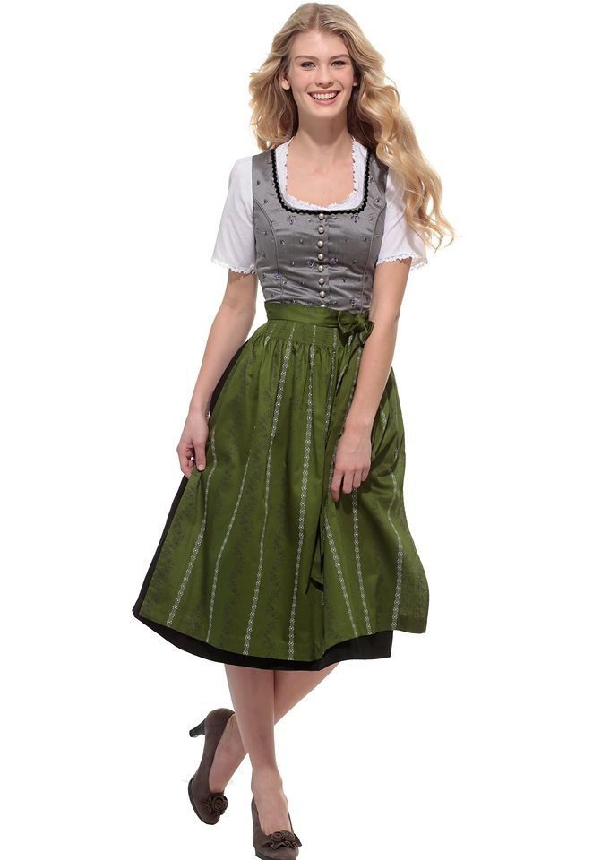 dirndl midi mit samtborte am ausschnitt turi landhaus. Black Bedroom Furniture Sets. Home Design Ideas