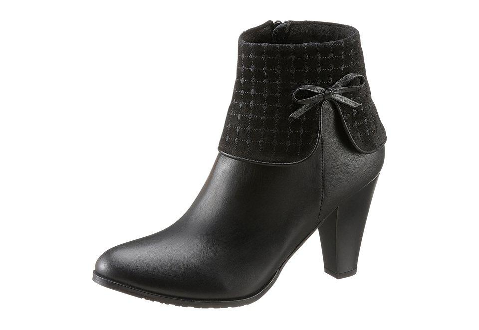 Stiefelette mit Schleife, Andrea Conti in schwarz