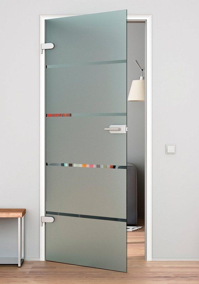 Glaszimmertür »4 Streifen« (ohne Beschläge) in weiß
