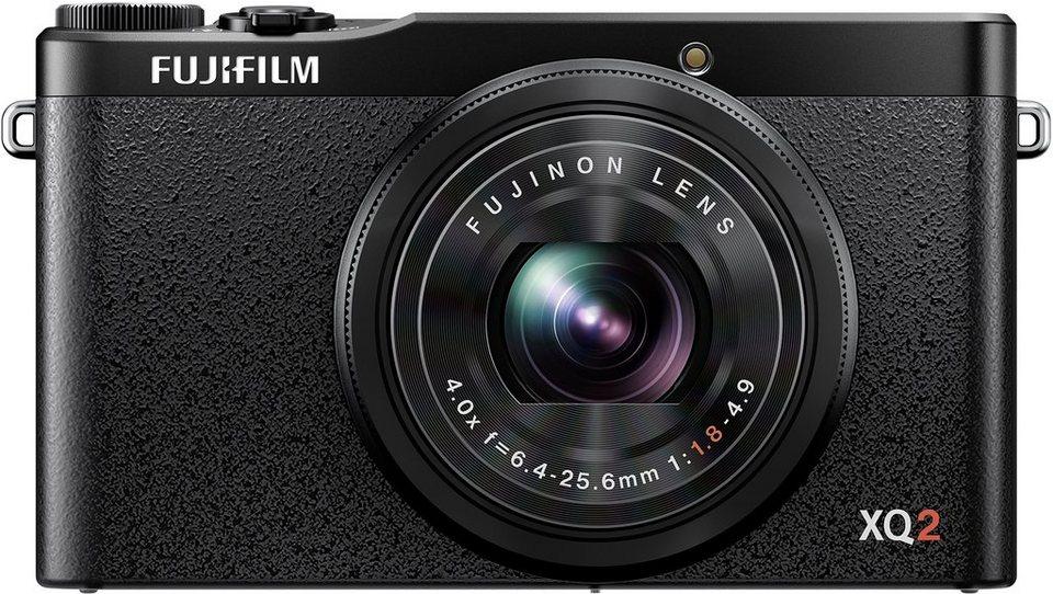 FUJIFILM XQ2 Kompakt Kamera, 12 Megapixel, 4x opt. Zoom, 7,6 cm (3 Zoll) Display in schwarz