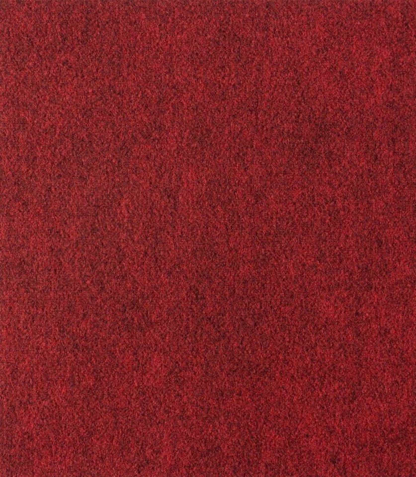 Nadelfilz Teppichfliesen, 24 m² in rot