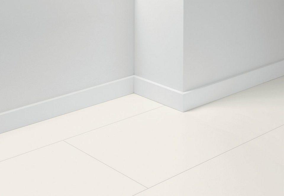 Sockelleisten »SL5« passend zum Parkett »Basic«, uni weiß Nachbildung in weiß