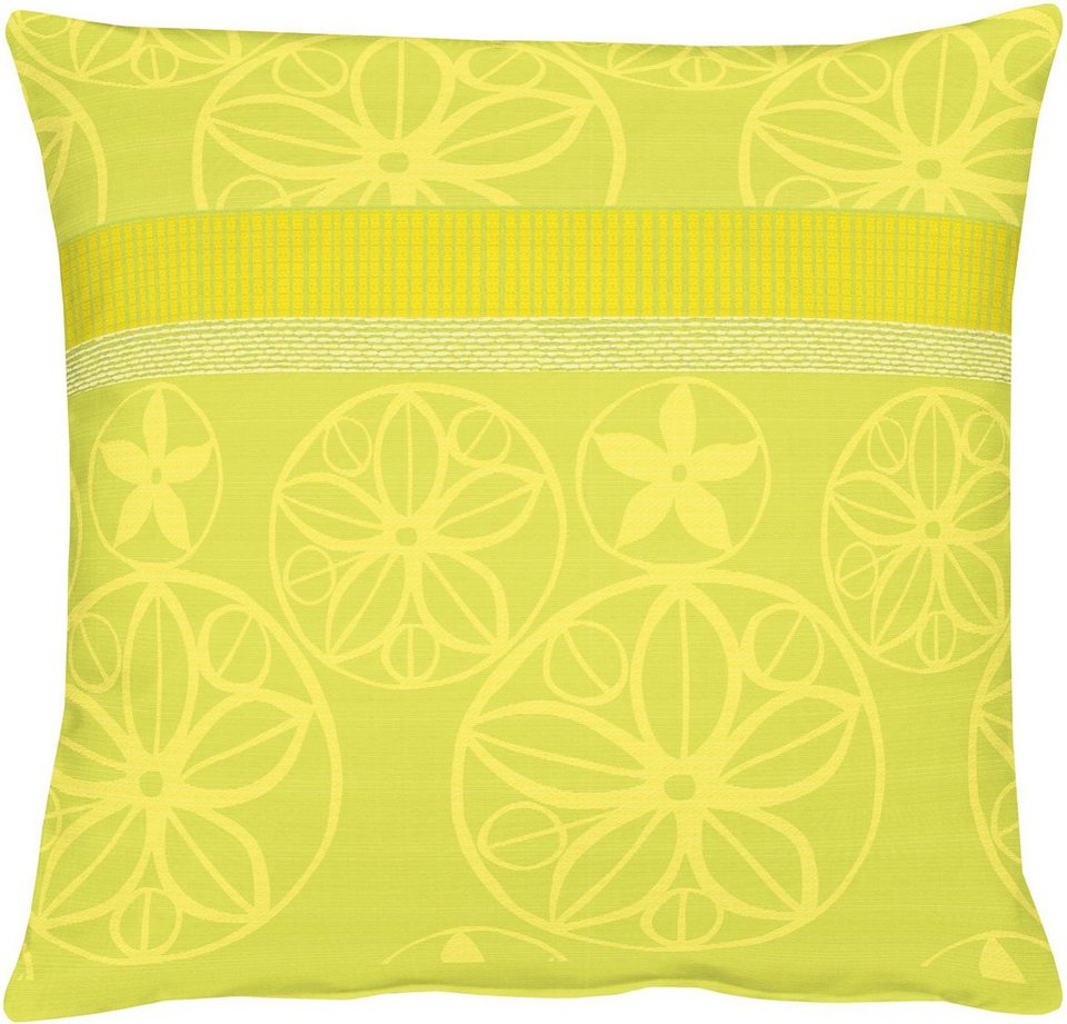 Kissen, Apelt, »BELLA Loft Jacquard Ornamente« (1 Stück) in grüntöne