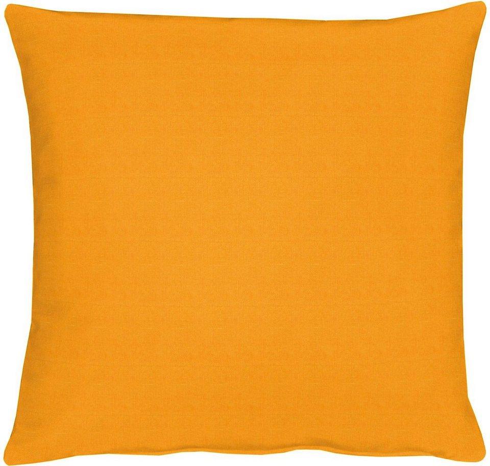 Kissen, Apelt, »TOSCA Leinen - Uni« (1 Stück) in orange