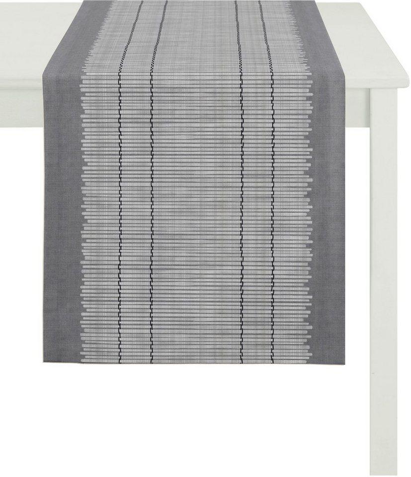 Tischläufer, Apelt, »3033 Loft Bambusmatte« in grau