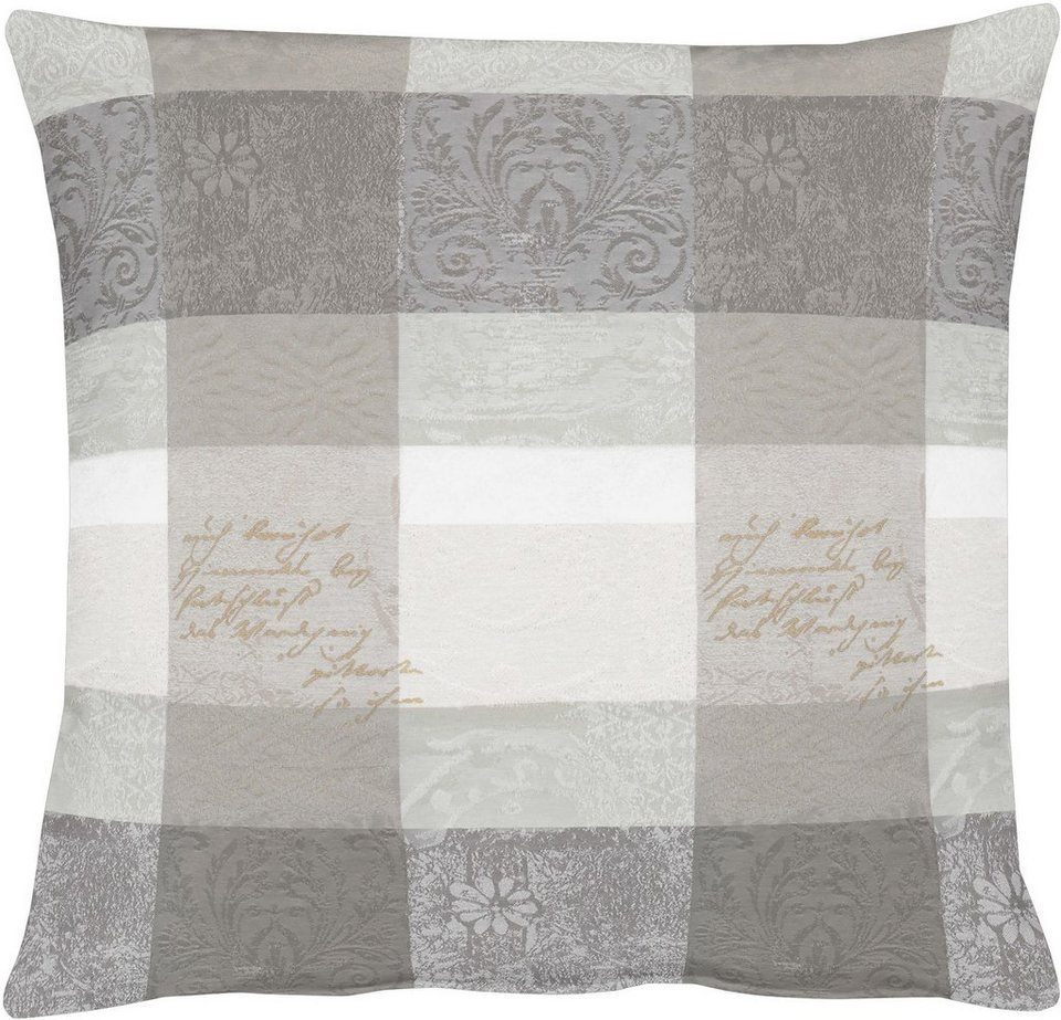 Kissenhüllen, Apelt, »3042 Zeitlos elegantes Jacquardmotiv« (1 Stück) in grautöne