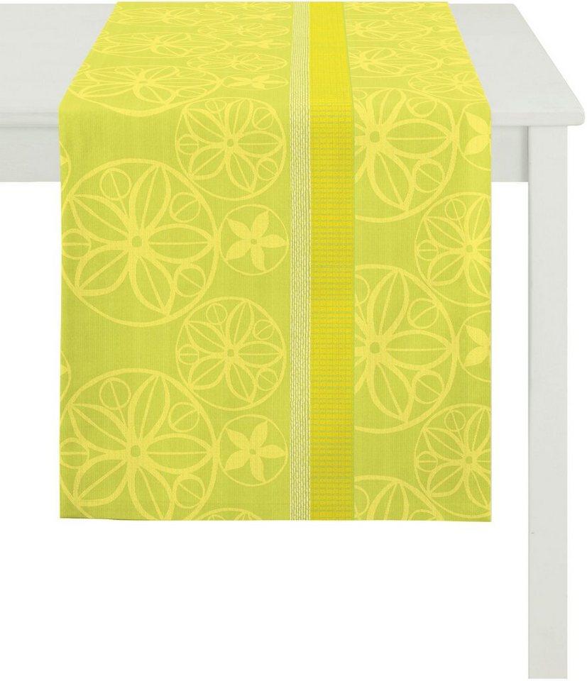 Tischläufer, Apelt, »BELLA Loft Jacquard Ornamente« in grüntöne