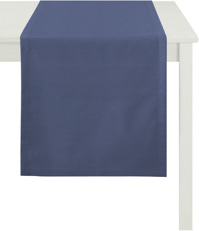 Tischläufer, Apelt, »TIZIAN Uni Rips« in marineblau