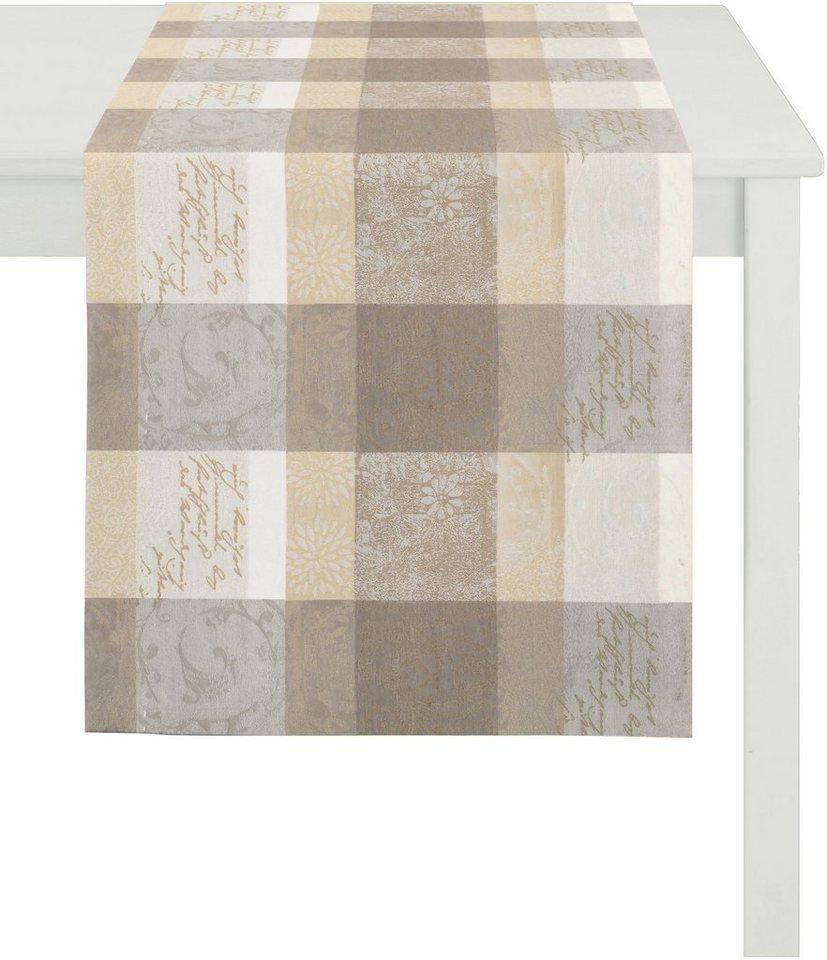 Tischläufer, Apelt, »3042 Zeitlos elegantes Jacquard« in natrutöne