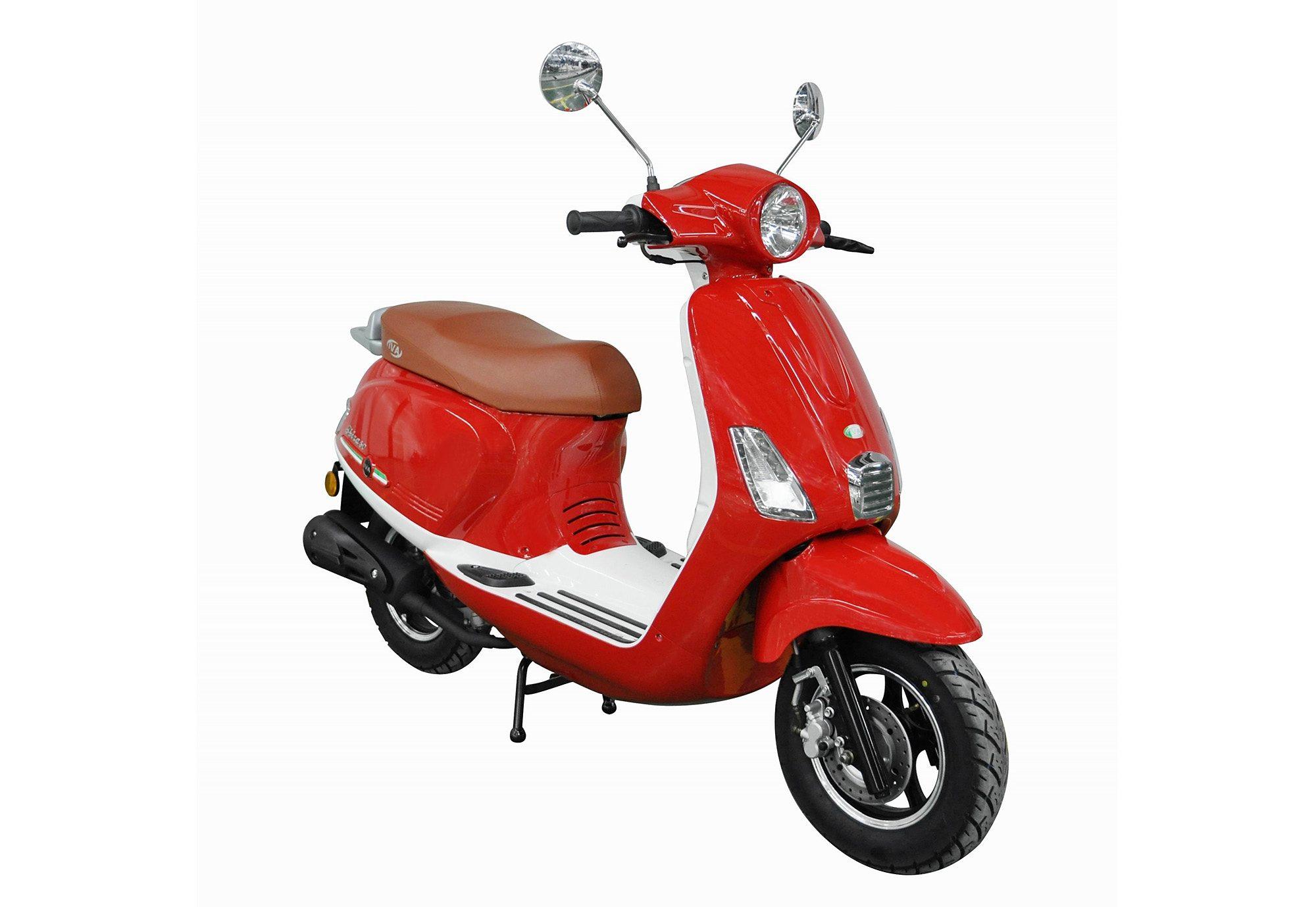 Motorroller, 50 ccm, 3 PS, 45 km/h, für 2 Personen, rot, »Ibiza«, IVA