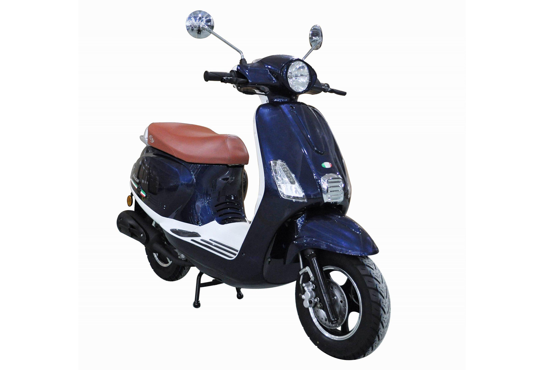 Motorroller, 50 ccm, 3 PS, 45 km/h, für 2 Personen, blau, »Ibiza«, IVA