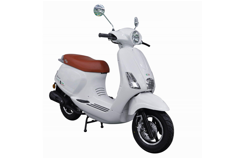Mofaroller, 50 ccm, 3 PS, 25 km/h, für 1 Person, weiss, »IBIZA«, IVA