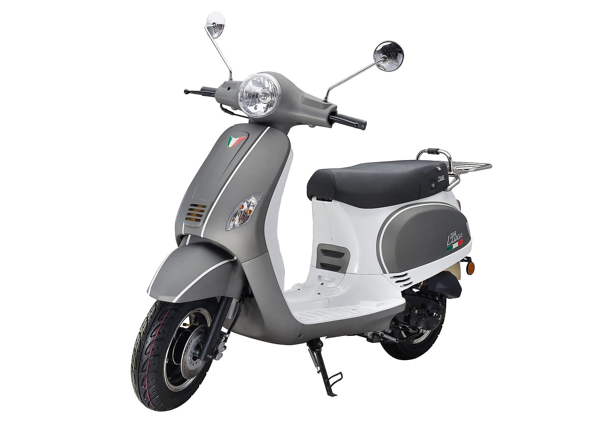 Mofaroller, 50 ccm, 3 PS, 25 km/h, für 1 Person, grau-weiss, »LUX«, IVA