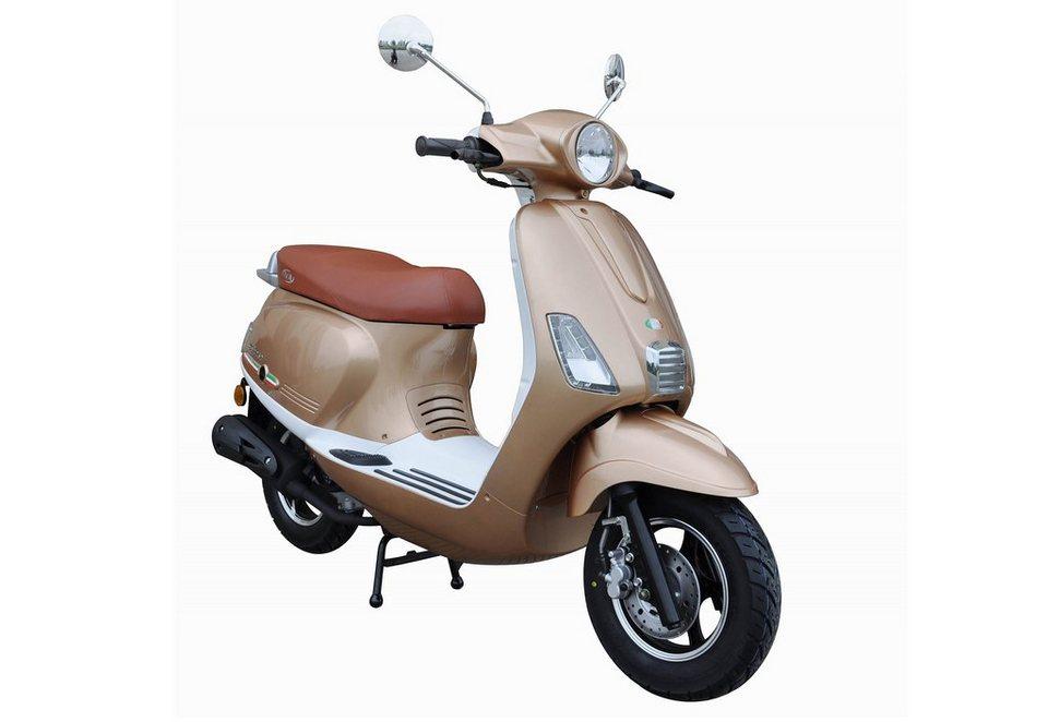 motorroller 50 ccm 3 ps 45 km h f r 2 personen champagner weiss ibiza iva online kaufen. Black Bedroom Furniture Sets. Home Design Ideas