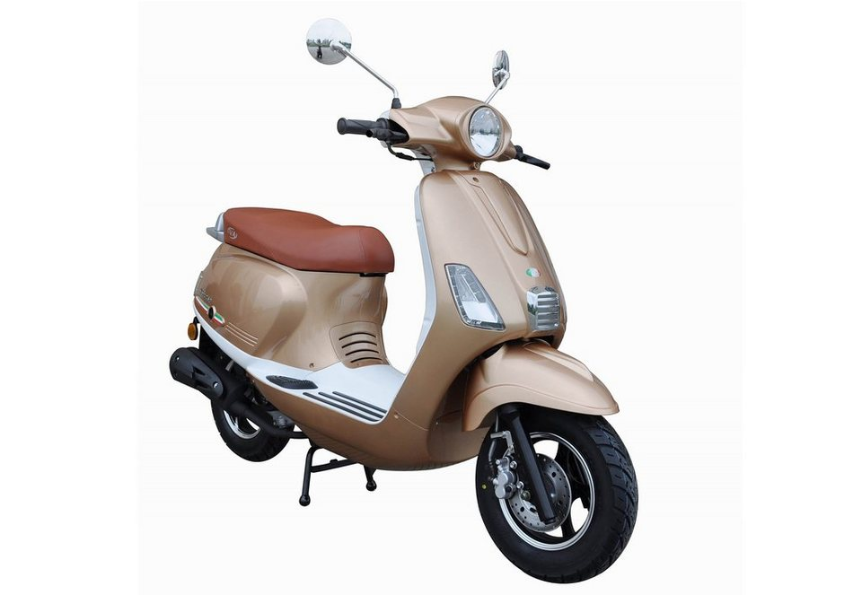 Mofaroller, 50 ccm, 3 PS, 25 km/h, für 1 Person, champagner-weiss, »IBIZA«, IVA in champagner-weiss