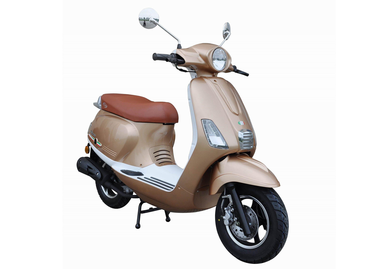Mofaroller, 50 ccm, 3 PS, 25 km/h, für 1 Person, champagner-weiss, »IBIZA«, IVA