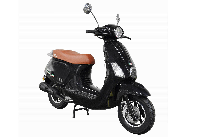 Motorroller, 50 ccm, 3 PS, 45 km/h, für 2 Personen, schwarz, »Ibiza«, IVA