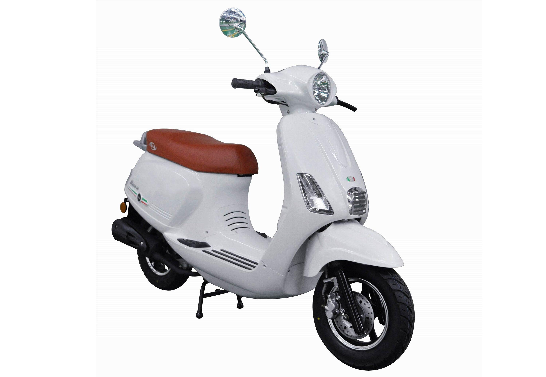 Motorroller, 50 ccm, 3 PS, 45 km/h, für 2 Personen, weiss, »Ibiza«, IVA