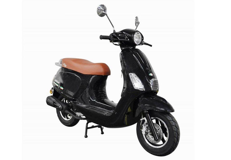 Mofaroller, 50 ccm, 3 PS, 25 km/h, für 1 Person, schwarz, »IBIZA«, IVA in schwarz