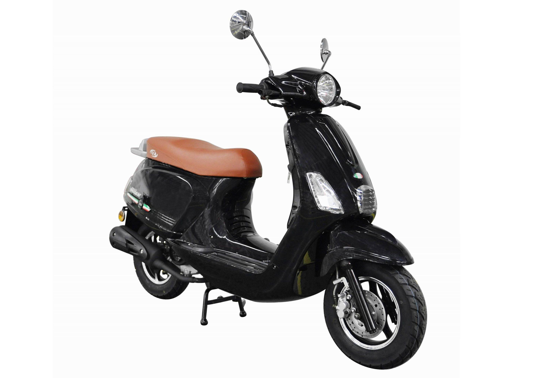 Mofaroller, 50 ccm, 3 PS, 25 km/h, für 1 Person, schwarz, »IBIZA«, IVA