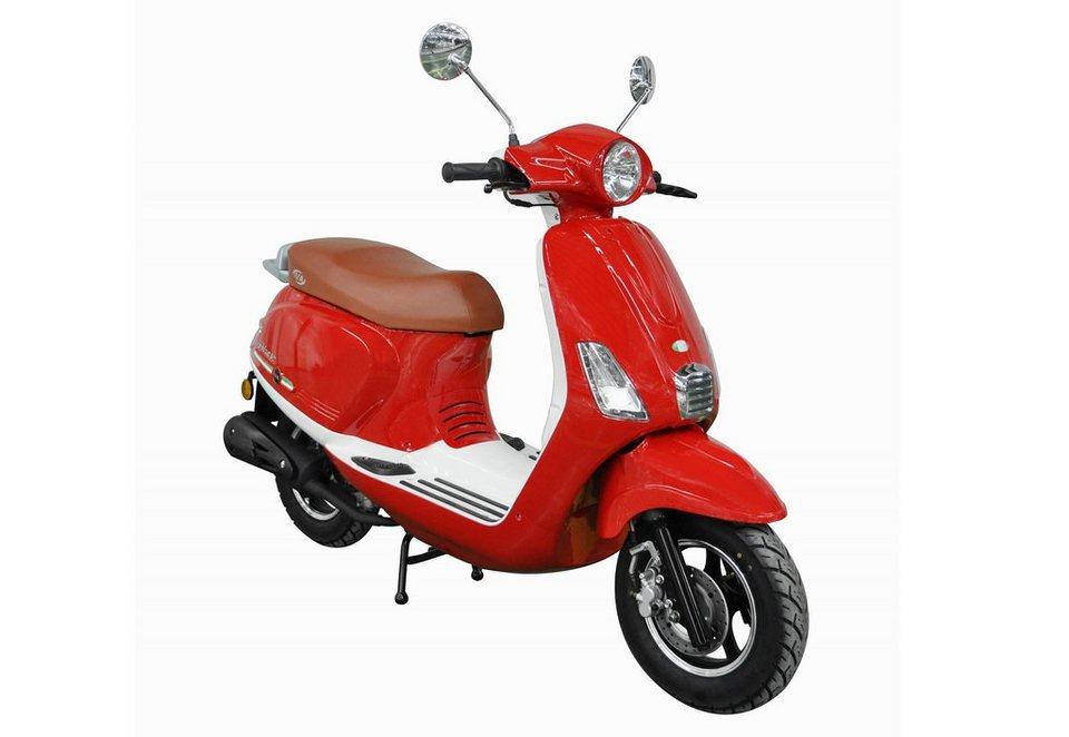 Mofaroller, 50 ccm, 3 PS, 25 km/h, für 1 Person, rot, »IBIZA«, IVA in rot