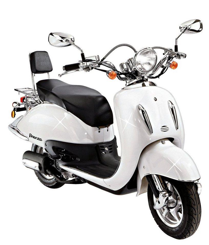 Mofa »Retro Firenze«, 50 ccm, 25 km/h, entdrosselbar in weiß