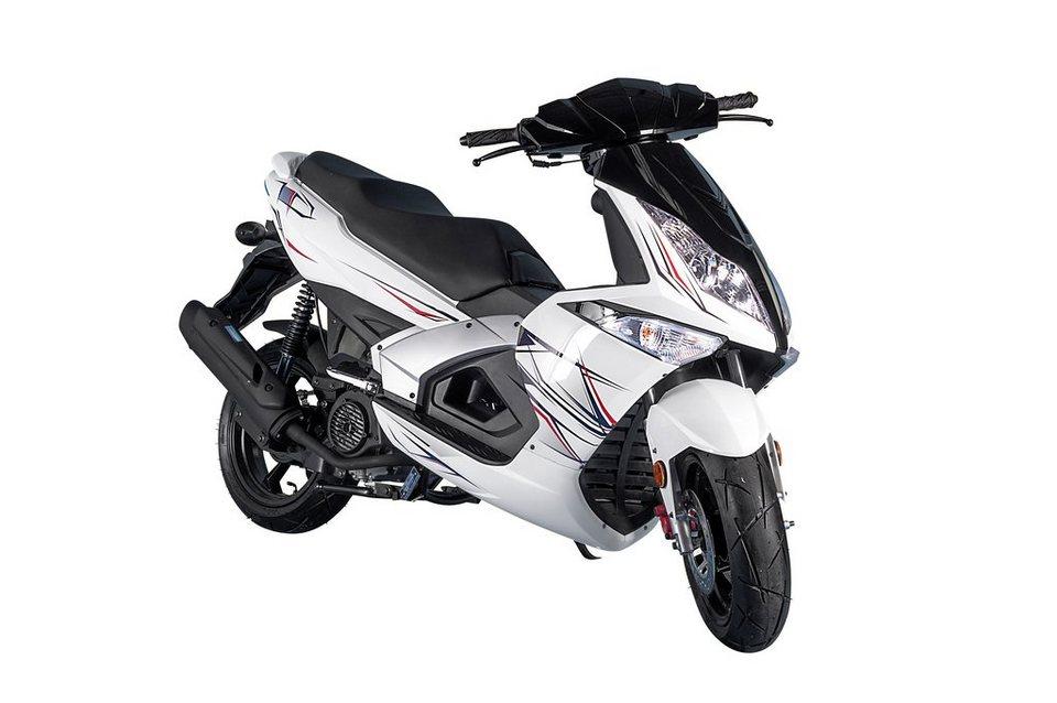 Motorroller »Manhattan«, 50 ccm, 45 km/h in weiß