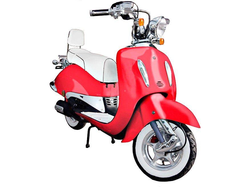 Motorroller »Strada«, 50 ccm, 45 km/h in rot