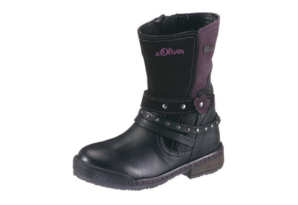 s.Oliver Boots mit Tex Ausstattung in schwarz-kombiniert