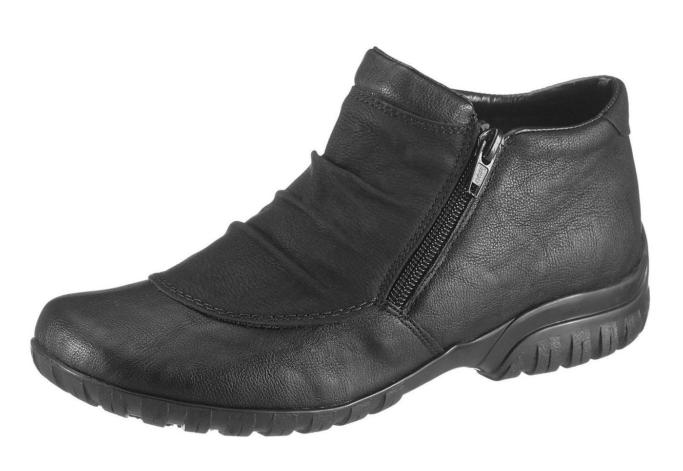 Damen Rieker Boots im sportlichen Design schwarz   04020932383367