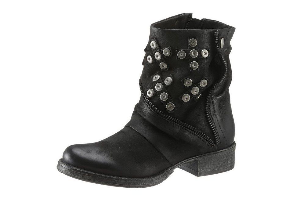 Arizona Boots mit Nietenverzierung in schwarz