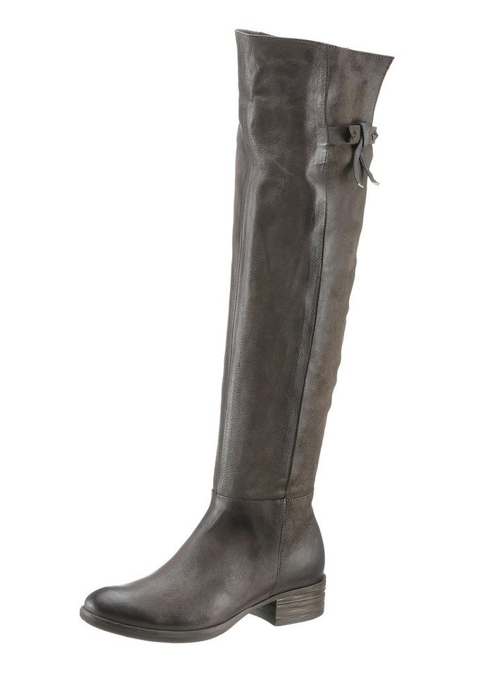 Arizona Overkneestiefel in taupe