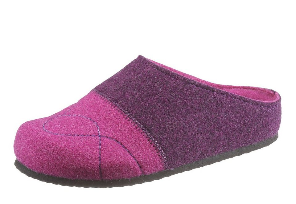 Hush Puppies Pantoffel in pink kombiniert