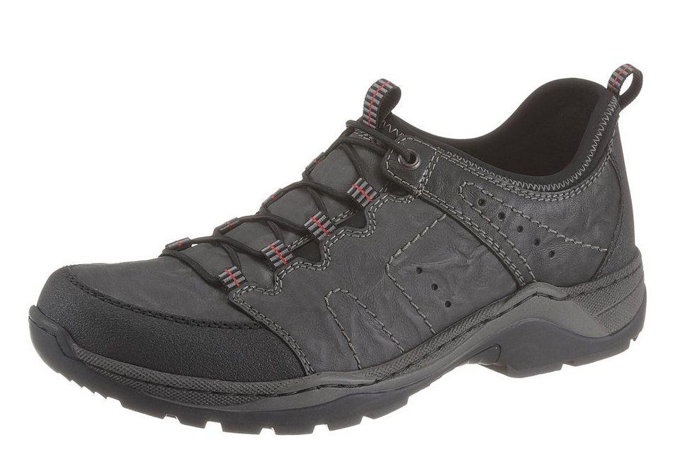 RIEKER Slipper mit Gummizug in grau-schwarz