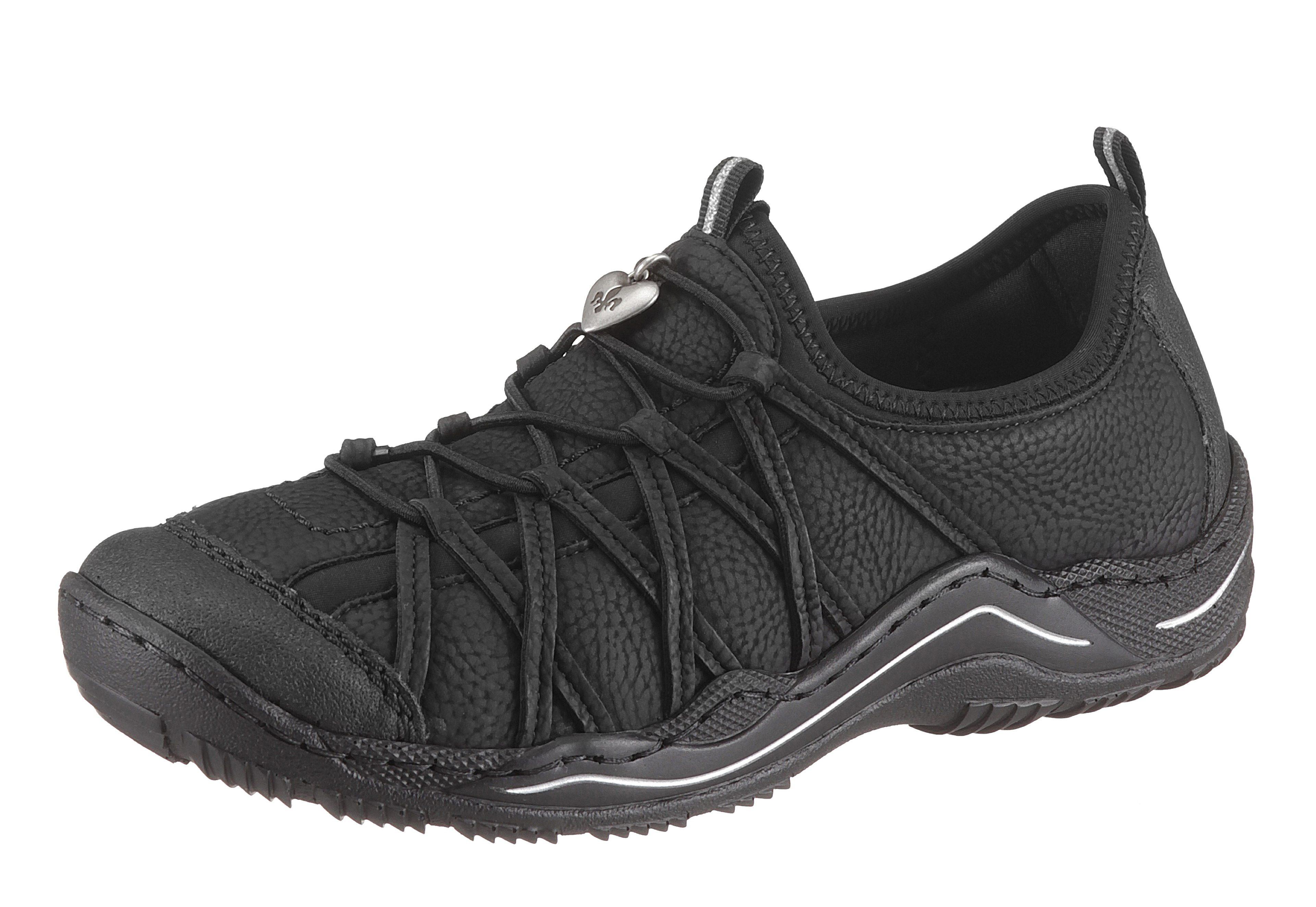 Rieker Slip-On Sneaker, mit Gummizug online kaufen  schwarz