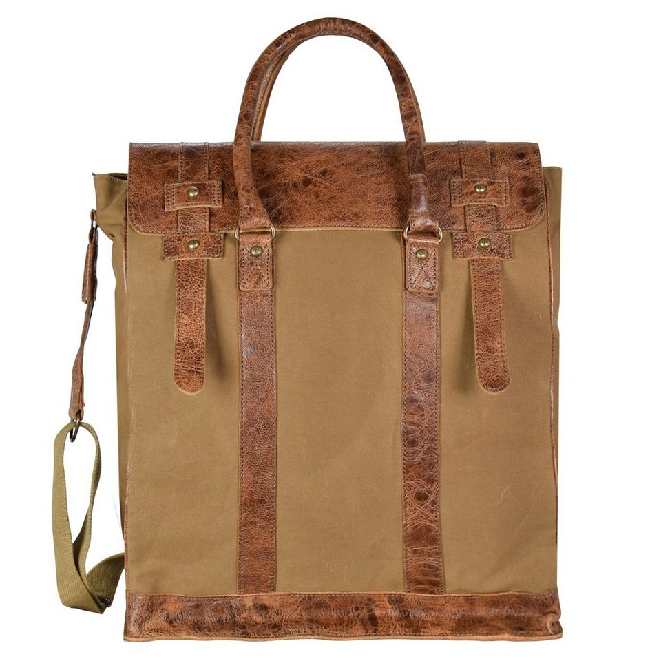 Greenburry White Spirit Flathead I Handtasche 42 cm Tabletfach in olivbraun